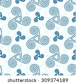 blue vector triskel celtic... | Shutterstock .eps vector #309374189