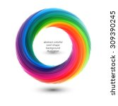 abstract colorful clip art ... | Shutterstock .eps vector #309390245