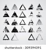 big vintage stamps collection . ... | Shutterstock .eps vector #309394391