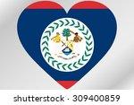 a flag illustration of a heart... | Shutterstock .eps vector #309400859