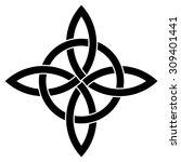 quadruple knot vector  tattoo...   Shutterstock .eps vector #309401441