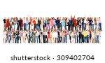 people diversity standing... | Shutterstock . vector #309402704