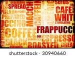 coffee menu beverage as a art... | Shutterstock . vector #30940660