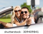 road trip  leisure  couple ... | Shutterstock . vector #309409841