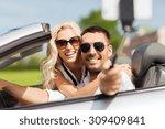 road trip  leisure  couple ... | Shutterstock . vector #309409841