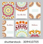 set of old fairy tail flyer... | Shutterstock .eps vector #309410705