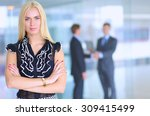 business woman standing in... | Shutterstock . vector #309415499