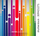 colorful stripe or lines... | Shutterstock .eps vector #309421271