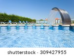 swimming pool with stair at... | Shutterstock . vector #309427955