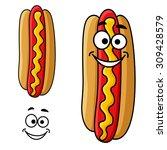 fast food hot dog cartoon...   Shutterstock .eps vector #309428579