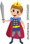 charming little prince with red ...   Shutterstock .eps vector #309433685