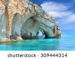 Blue Caves On Zakynthos Island...