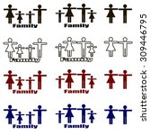 family logo and icon  vector...   Shutterstock .eps vector #309446795