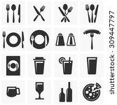 restaurant icons | Shutterstock .eps vector #309447797