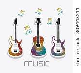 music instruments design ... | Shutterstock .eps vector #309448211