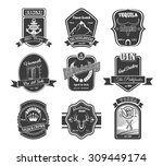vector set of vintage alcohol... | Shutterstock .eps vector #309449174