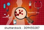 hcv hepatitis c virus liver...   Shutterstock .eps vector #309450287