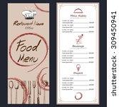 food menu cafe  brochure... | Shutterstock .eps vector #309450941