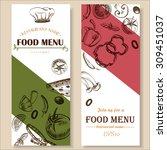 food menu restaurant cafe ... | Shutterstock .eps vector #309451037