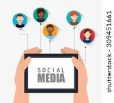 social media design  vector... | Shutterstock .eps vector #309451661