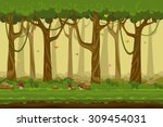 cartoon forest landscape ... | Shutterstock .eps vector #309454031