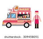 food truck bakery | Shutterstock .eps vector #309458051