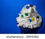Whipped Cream In Sundae With...