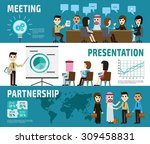meeting. presentation.... | Shutterstock .eps vector #309458831