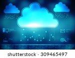 2d business cloud network | Shutterstock . vector #309465497