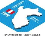 peru map vector three... | Shutterstock .eps vector #309468665