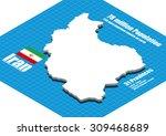 iran map vector three...   Shutterstock .eps vector #309468689
