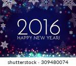 happy new 2016 year. vector... | Shutterstock .eps vector #309480074