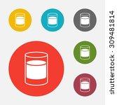 shot glass. isolated on white... | Shutterstock .eps vector #309481814