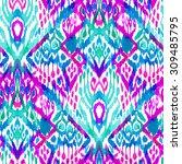 seamless bohemian ethnic... | Shutterstock . vector #309485795