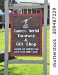 Small photo of FRANCONIA, NH - SEP 27: Cannon Mountain Aerial Tramway at Franconia Notch State Park in White Mountains, New Hampshire, on Sep 27, 2014. It was the first passenger aerial tramway in North America.