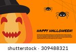 halloween design template with... | Shutterstock .eps vector #309488321