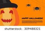 halloween design template with... | Shutterstock .eps vector #309488321