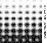 vector halftone dots. black... | Shutterstock .eps vector #309495341