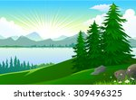 beauty of nature   lake   view...   Shutterstock .eps vector #309496325