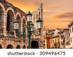 verona. city landscape.   Shutterstock . vector #309496475