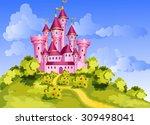 vector tale princess pink... | Shutterstock .eps vector #309498041