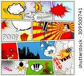 comics template. vector retro...