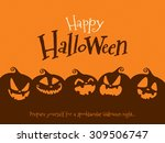 halloween pumpkins | Shutterstock .eps vector #309506747