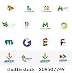 set of new universal company... | Shutterstock .eps vector #309507749