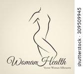 elegant woman silhouette ...   Shutterstock .eps vector #309509945
