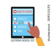 health check on tablet device....   Shutterstock .eps vector #309513155