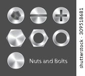 nuts and bolts | Shutterstock .eps vector #309518681