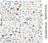 mega doodle design elements... | Shutterstock .eps vector #309519221