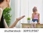 mother scolds her child | Shutterstock . vector #309519587