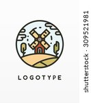 happy farm   vector logotype | Shutterstock .eps vector #309521981